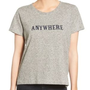 Madewell Striped Anywhere Graphic Tee Shirt Top